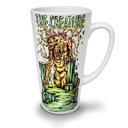 Kreatur Monster Horror WeißTee KaffeKeramik Kaffeebecher 17 | (Hai Kostüm Links)