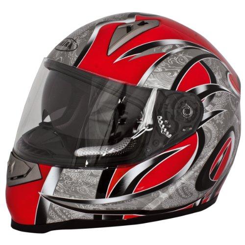 Akira Motorradhelm Mito RO 200i Integral mit Sonnenvisier, schwarz/rot, L, 20104 Preisvergleich