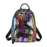 RLFS (Offre:Restaure le prix initial après 24 heures) Glitter Backpack Women Sequin Sacs à bandoulière Sacs à bandoulière pour filles (Multi
