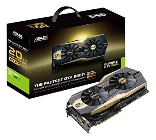 ASUS GOLD20TH-GTX980TI-P-6G-GAMING - 20th Anniversary Gold Edition - Scheda grafica - GF GTX 980 Ti - 6 GB GDDR5 - PCI Express 3.0 x16