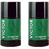 "Victor: ""Original"" Deodorant - 2.5 Fluid Ounces (75mL) Deo Stick (Pack Of 2) [ Italian Import ]"