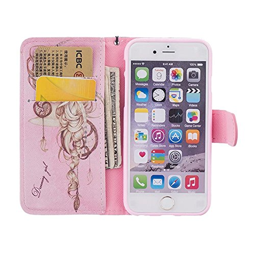 Portefeuille Etui pour iPhone SE Coque, Vandot iPhone 5 5S Housse en Strass Diamant PU Cuir Rabat Swag Coque pour iPhone 5 5S SE Case Cover Protective Shell Fente de Carte Anti-Rayures AntiPoussiere C Morpheus-rose
