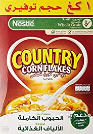 Nestlé Country Corn Flakes Cereals Family Pack, 1Kg - Pack of 1, yellow