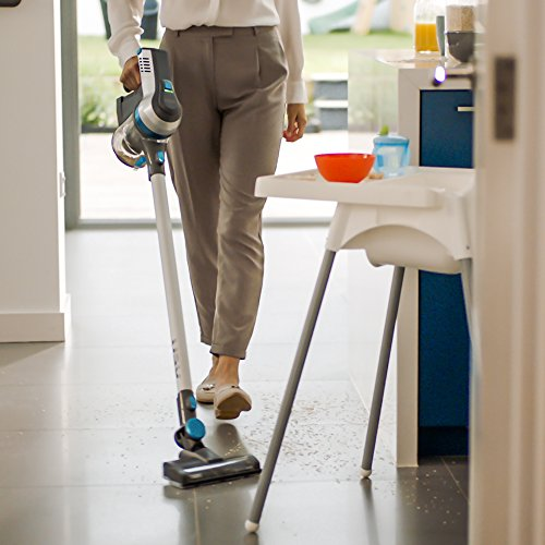 A real downside of this model is the lack of adjustable power setting. That means the suction and run time is fixed. Even so you can cover so much ground in 24 minutes and if you particularly fancy a sleek stick vacuum cleaner, the Vax SlimVac is a great choice.