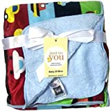 N&M Double Layer Velvet Fleece Newborn Printed Baby Blanket (MultiCar)