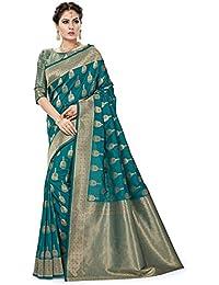 Soru Fashion Banarasi Silk Saree (Cott-666_Multicolor_Free Size)