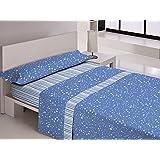 Juego de sábanas CIELO Ebano Cama 150 cm Azul - Sedalinne