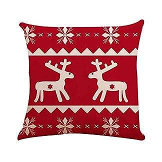 Fossrn Fundas Cojines 45×45 Navidad Decoracion – Copo de nieveCuadrado Funda de Cojín Decoracion Sofa Cama Casa