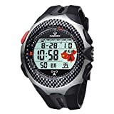 Reloj de los deportes/tabla de la onda/tabla militar de los hombres/reloj electrónico impermeable/relojes de los hombres, black n3