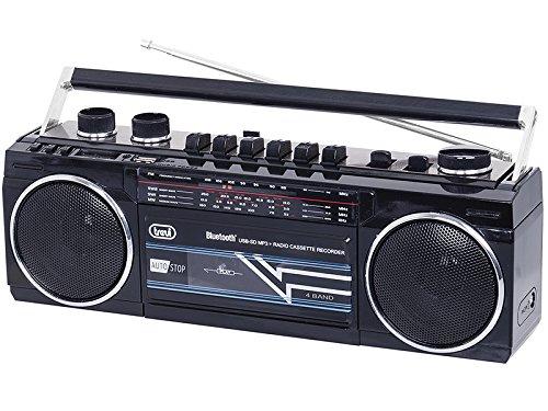 Trevi RR 501 BT Personal Negro - Radio (Personal, FM, MW, SO, Negro, Giratorio, SD, Mecánico)