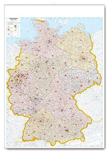 Postleitkarte Deutschland 1:700.000: folienkaschiert