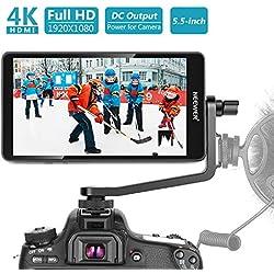 """Neewer Ecran Moniteur FW568 sur Caméra Appareil Photo - Moniteur 5,5"""" avec 4K HDMI 8.4V CC Entrée Sortie et Bras Pivotant pour Sony Nikon Canon et Cardan (Batterie Non Incluse)"""