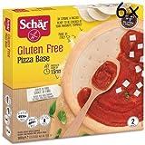 6x Schär Base de Pizza (2 Paquetes) 300g ¡Sin Gluten!