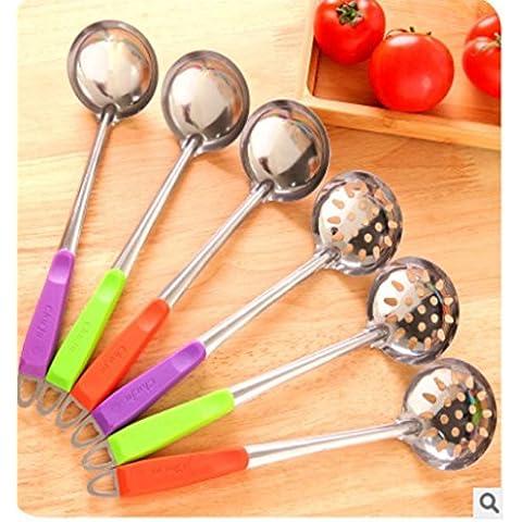 SQL Maniglia colorata cucina di cucchiaio in acciaio inox zuppa