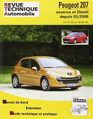 Revue Technique B711.5 Peugeot 207 Es 1.6v/Diesel 1.6 Hdi