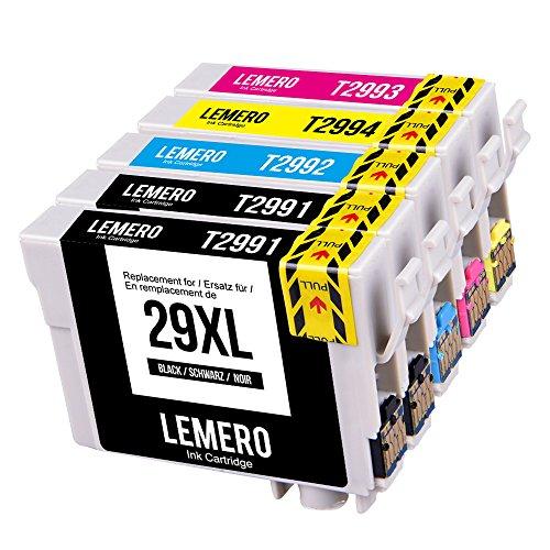5 LEMERO Compatible EPSON 29XL 29 XL T2991 4 XL Cartuchos