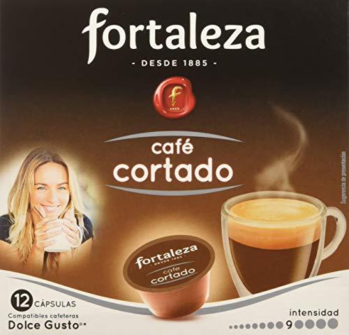 Café FORTALEZA - Cápsulas de Café Cortado Compatibles con Dolce Gusto - Pack 3 x 12 - Total 36 cápsulas