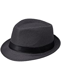11993950c5f5a La Vogue Trilby Hat with Band Houndstooth Jazz Cap Gangster Hat