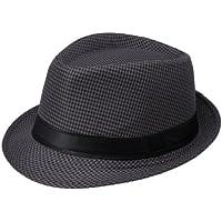 EOZY Gorro Sol sombrero De Jazz Playa Gorra Para Mujer Hombre Enrejado Negro
