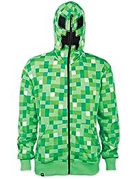 Minecraft Kapuzenjacke Creeper mit Alloverprint in grün