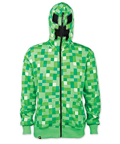Close Up Minecraft Kapuzenjacke Creeper mit Alloverprint in grün (XL)