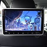 Sonic Audio ® - Reproductor de DVD HR-10C con pantalla universal de 10,1 pulgadas, clip de montaje para reposacabezas, conexiones USB/SD/HDMI, auriculares inalámbricos por inrarrojos, sistema de entretenimiento para coche