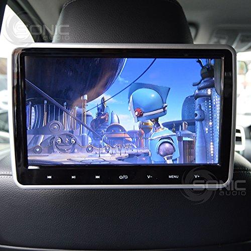 Sonic Audio® 2x hr-10C Universal 25,7cm tablet-style Wechselrahmen Kopfstütze DVD-Player/Bildschirm mit USB/SD/HDMI und gratis Kabelloser Infrarot-Kopfhörer–Plug Rücksitze Entertainment System