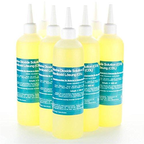 Chlordioxid Lösung 0,3% - CDS/CDL - Sparpaket 5+2 gratis - 7 Flaschen CDS CDL à 250 ml - Chlordioxidlösung nach Originalrezeptur - MADE IN GERMANY - Zum Sonderpreis! (Wir Fünf Cd)