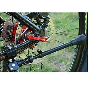 Vovotrade Aluminio Ajustable Bicicleta Foot Stander Pie de patada Bici Estante Apoyo Soporte Herramienta Parte Accesorio
