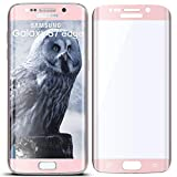moex 3D Panzerfolie für Samsung Galaxy S7 Edge | Panzerglas Full Screen Glasfolie [Tempered Glass Curved] Protector Glas Displayschutz-Folie für Samsung Galaxy S7 Edge Schutzfolie, Rose