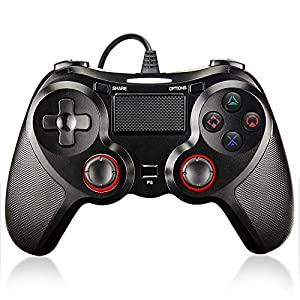 Maexus PS4 Controller, Wired Controller for Playstation 4/ Ps4 Pro/Slim/Playstation 3