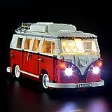 LIGHTAILING Jeu De Lumières pour (Le Camping Car Volkswagen T1) Modèle en Blocs De Construction - Kit De Lumière A LED Compatible avec Lego 10220(Ne Figurant Pas sur Le Modèle)