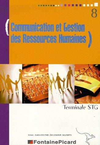 Communication et Gestion des Ressources Humaines Tle STG