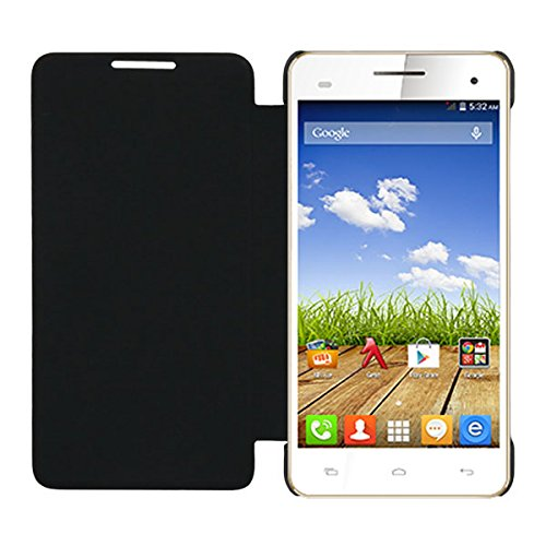 Acm Leather Diary Folio Flip Flap Case For Micromax A190 Canvas Hd Plus Mobile Front & Back Cover Black  available at amazon for Rs.329