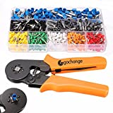 Crimper Plier Set, GOCHANGE 0.25-6.0mm² Self-adjustable Ratchet Wire Crimping Tools / Ferrule Insulated Cable Crimper with 800 AWG Wire Terminal Crimp Connector Ferrule Cord Pin End Tool Kit