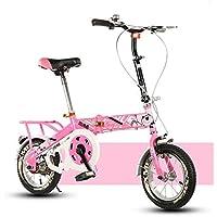 YEARLY Bicicleta plegable infantil, Bicicleta plegable estudiante Luz portátil Alumnos Bicicleta plegable 8-12
