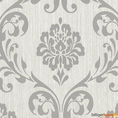 Tapete ORNAMENT Vliesapete P+S 13110-50 1311050 Barock grau silber von P+S International bei TapetenShop