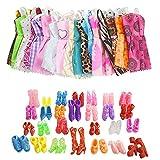 20 Pz Doll Accessori 10 Pezzi Doll Clothes E 10 Coppie Doll Shoes Fashion Party Principessa Vestito Per Barbie Doll Accessori (casuale)