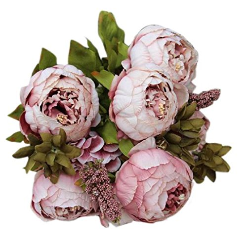 sanysis-flores-artificiales-exterior-1-ramo-8-cabezas-de-flores-de-seda-caqui