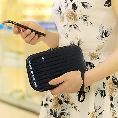 Nyrwana Hard Cosmetic Portable Travel Case-Travel Handbag Suitcase with Wristlet-Double Zipper for Women's Portable Travel Cosmetic Case (Send Randomly)
