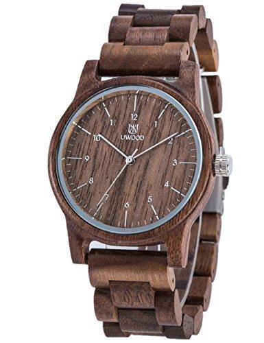 Stile Eco-Friendly Orologi da polso, fatto a mano,100% in legno naturale di sandalo,calendario