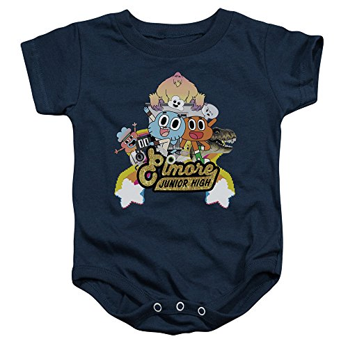 Amazing World Of Gumball - - Kleinkind Elmore Junior High Onesie, 24 Months, Navy