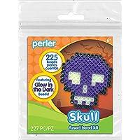 Perler Beads 80-72274 - Kit de actividad de perlas, diseño de calavera, 80-72274,