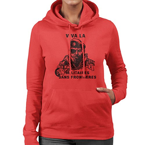 Viva La Militaires Sans Frontieres Women's Hooded Sweatshirt Red