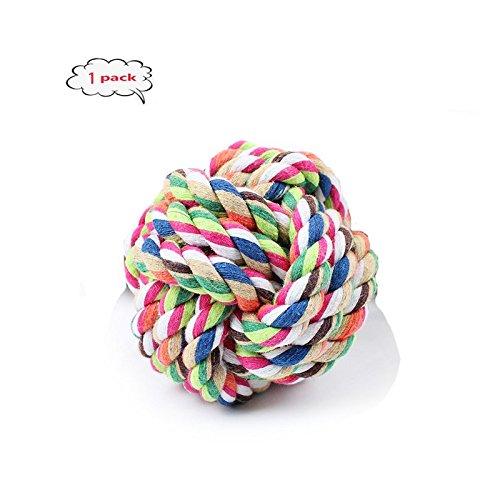 Hundespielzeug Ball - TianTa - Interaktives Spielzeug - Natural Pet Qualitätsprodukt Knoten-Ball Haustier Kauspielzeug Seil Spielzeug für kleine und Mittlere Hunde