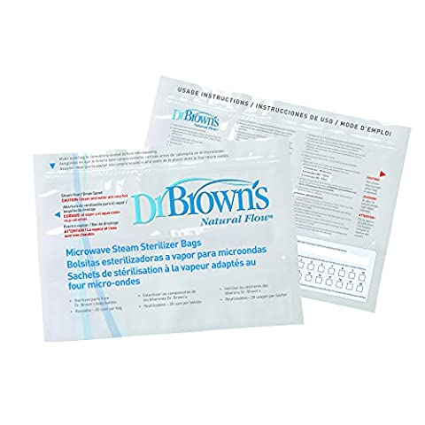 Dr Brown's Natural Flow Microwave Steam Steriliser Bags - Browns Microonde Sterilizzatore
