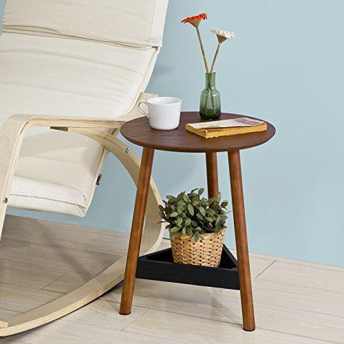 SoBuy®Mesa auxiliar con 1 bandeja,mesita de noche,mesa de café,Consola,H49 cm, FBT51-BR,ES