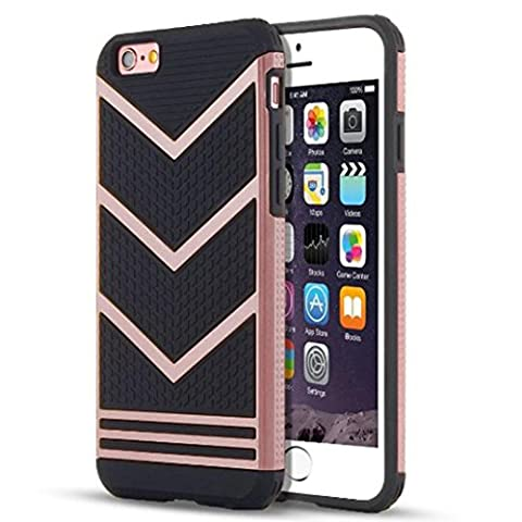 Culater® Ultra Slim Anti-slip Shockproof Armor Case Cover Sink For iPhone 6 Plus/6s Plus 5.5Inch (Rose Gold)