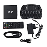 Smart TV Box / S905X Quad core HD CPU / 2GB + 16GB / Android 6.0 1080P/4K/ Kodi 16.1 (XBMC) TV Box mit HDMI DLNA USB SPDIF +Tastatur (Wireless Fernbedienung geliefert) von Huaanlonguk