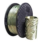 Uniqstore Silk Bronze 1,75 mm PLA Filament 3D Drucker Filament 1000g (2,2 LBS) Druck Material Bronze Filament